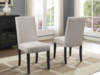Copper Grove Humboldt Nailhead trim Fabric Dining Chairs  Set of 2  Retail 130 49