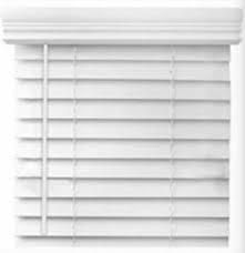 levolor 2 in Faux Wood Blind in White