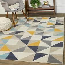 Grey Carson Carrington Isgrannatorp low pile Multicolored Geometric Indoor Area Rug Retail  105 49