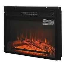 Black HOMCOM Recessed Electric Fireplace Heater with Realistic log Flames  23in  1400W  Black Retail  161 99