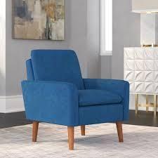 Blue Carson Carrington Prato Modern Arm Chair   Retail 183 49
