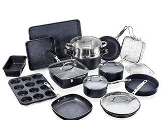 Granitestone Diamond Non Stick 20pc Complete Cookware and Bakeware Set Retail 213 49