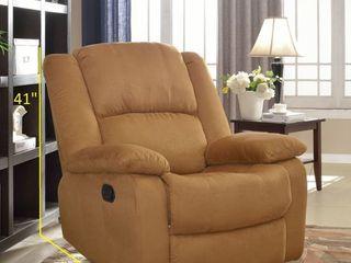 Microfiber Recliner Brown Color Retail 359 99