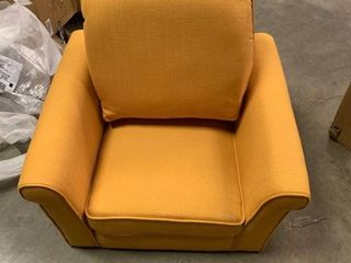 Mervynn Mid century Fabric Chair by Christopher Knight Home  Muted Yellow Retail 627 49