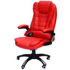HomCom High Back Executive Ergonomic PU leather Heated Vibrating Massage Office Chair   Red  Retail 178 99