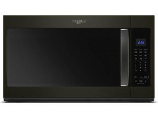 Whirlpool   1 9 Cu  Ft  Over the Range Microwave with Sensor Cooking   Black stainless steel