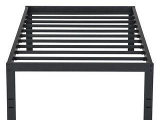 Sleeplanner 18 Inch Tall Heavy Duty Steel Slat Bed Frame  Twin