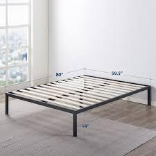 Mellow 14 Inch Heavy Duty Steel Platform Beds W wood Slat Mattress Foundation
