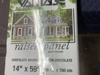 vantage eased panel in chocolate brown 14  x 59   2 panels in package