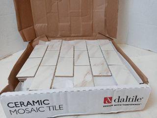 Ceramic Mosiac Tile Sl60 Bianco Calacatta  Qty 12 sheets