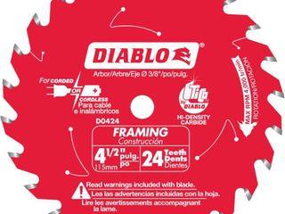 Diablo 4 1 2 in  Dia  x 3 8 in  Carbide Framing Saw Blade 24 teeth 1 pk