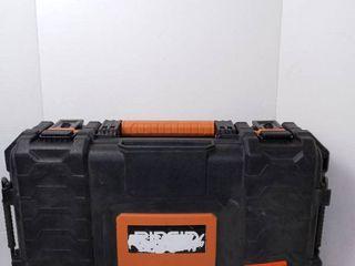 Ridgid 22  Pro Organizer Tool Box  Black