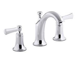 KOHlER Elliston 8 in  Widespread 2 Handle Bathroom Faucet in Polished Chrome