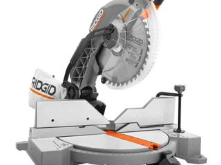 RIDGID 15 Amp Corded 12 in  Dual Bevel Miter Saw with lED
