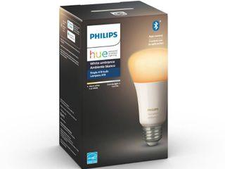 Philips   Hue White Ambiance A19 Bluetooth Smart lED Bulb   Adjustable White Qty2