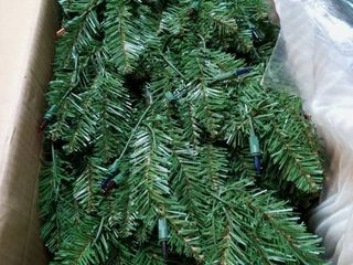 7  Kingswood Fir Pencil Tree with Multicolor lights