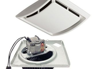 Nutone Quickit 60 CFM 2 5 Sones Bath Fan Upgrade Kit QKN60  cover has small damage on plastic mount