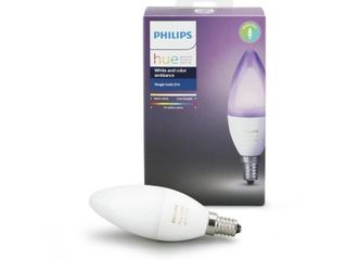 Philips Hue White and Color Ambiance E12 Smart light Candelabra Bulb  40W lED