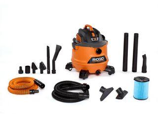 RIDGID 14 Gal  6 0 Peak HP NXT Wet Dry Shop Vacuum with Fine Dust Filter  Hose  Accessories and Premium Car Cleaning Kit  Oranges Peaches