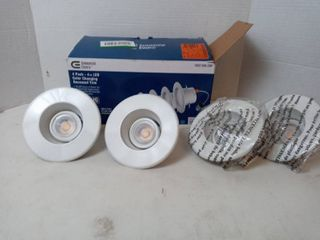 Commercial Electric 4 In  Color Changing Integrated Recessed Trim led Qty  4 Pack