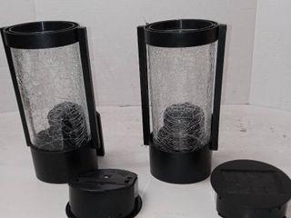 2 Sterno Solar Wall lights  Black  HD41250