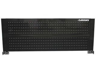 Husky 52 in  Pegboard Back Wall for Tool Cabinet  Black