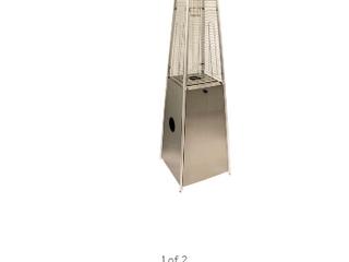 AZ Patio Tall Outdoor Triangle Glass Tube liquid Propane Heater