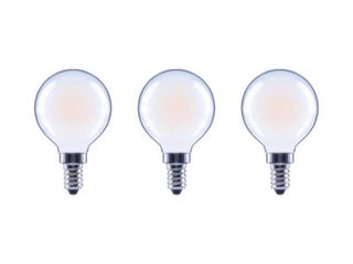 EcoSmart 40 Watt Equivalent G16 5 Globe Dimmable Frosted Glass Filament Vintage lED light Bulb Soft White  3 Pack  QTY 2