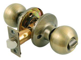 Privacy Door Knobs  Toledo Fine locks Knobs Privacy Door Knob lockset in Antique Brass CV1920AVUS5