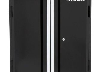 Husky 29 in  H x 28 in  W x 12 in  D Steel Garage Wall Cabinet  Smooth glossy black powder coating