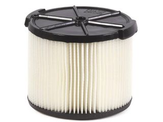 RIDGID 1 layer Standard Pleated Paper Filter for 3 to 4 5 Gal  Wet Dry Shop Vacuums  White
