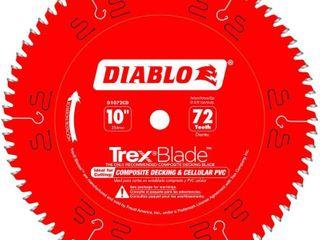 Diablo TrexBlade 10 in  Dia  x 5 8 in  Carbide Saw Blade 72 teeth 1 pk