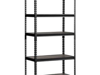 Edsal D Steel Commercial Shelving Unit UR 185WGB  Color Black  36 W x 72 H x 18