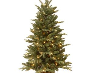 National Tree 4  Burlap Tree with 150 Clear lights