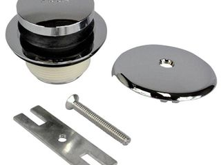Danco 88981A Overflow Plate and Shoe Assembly for lavatory Drain  Chrome