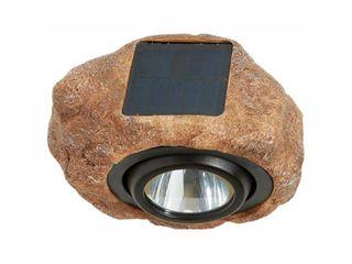 Hampton Bay 1 light Solar Outdoor Integrated lED 3000K 30 lumens Rock Spot light