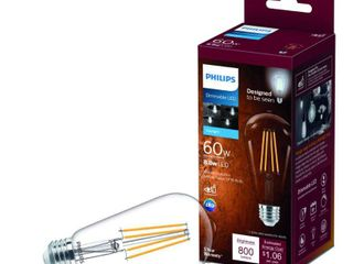 Philips Vintage Edison ST19 Medium lED Decorative light Bulb Qty5