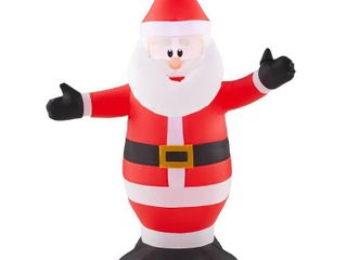 Home Accents Holiday 3 5 ft  Inflatable Santa
