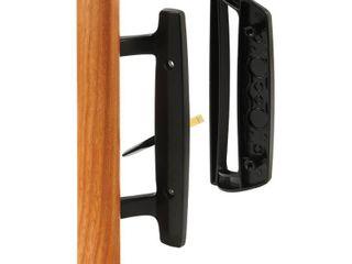 Prime line Products C 1131 Sliding Door Handle Set  Wood Handle  Black Diecast