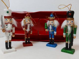 Home Accents 5  Holiday Traditions Nutcracker Ornaments Qty 4