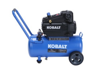 Kobalt 8 Gallon Single Stage Protable Electric Horizontal Air Compressure
