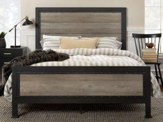 Carbon loft Santos Rustic Metal Queen Panel Bed  Retail 385 61