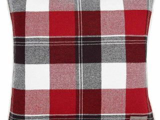 Accent Polyester Red Eddie Bauer lodge Red Throw Pillow