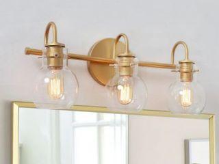 Carson Carrington Gold Bathroom Vanity lighting Wall Sconces for Powder Room   Retail 128 99  One Globe Broken