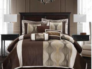Grand Avenue Ester Red Black 7 piece Comforter Set  Retail 77 42