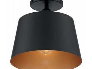 Motif 1 light Semi Flush with Black and Gold Accents Finish  Retail 109 99