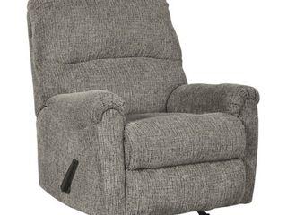 Signature Design by Ashley Termoli Granite Chenille Upholstered Rocker Recliner  Retail 646 49