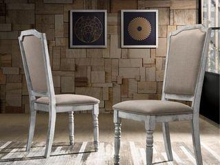 Iris Turned leg Wood Dining Chair Set of 2  Retail 142 99