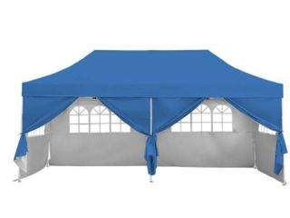 10X20 Pop Up Gazebo Canopy Tent with Sidewalls   Wheeled Carry Bag Portable Patio Canopy Shelter Commercial Instant  Retail 322 49