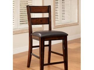 Furniture Of America Dickinson II Dark Cherry Counter Heigh Chairs  Set Of Two
